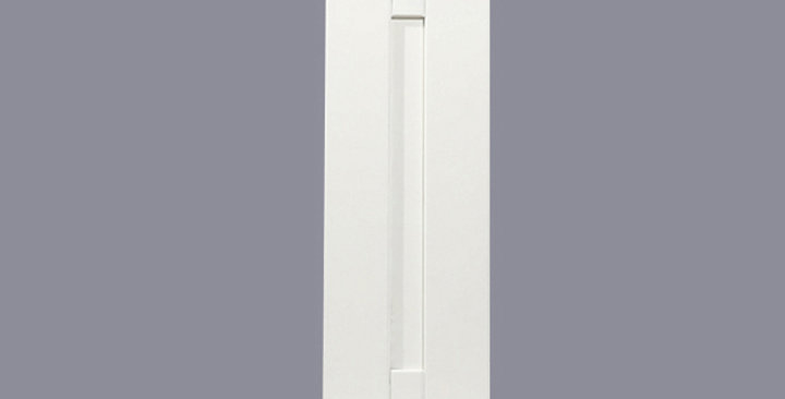 "White Shaker Single Door Wall Cabinet 12"" Deep 30""H"