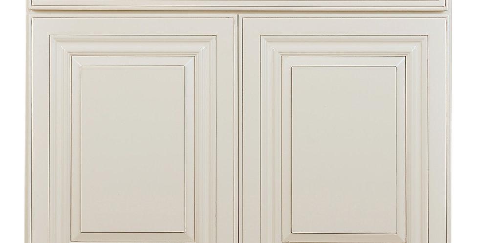 Cream White Vanity Base 24-36