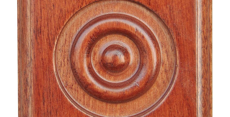 Wine Maple Onlay Rosette Block