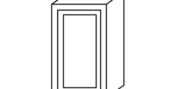 "Shaker Espresso Single Door Wall Cabinet 12"" Deep 36""H"