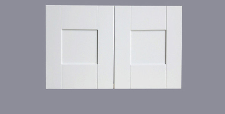"""White Shaker Wall Cabinet 12"""" Deep 15""""H"""