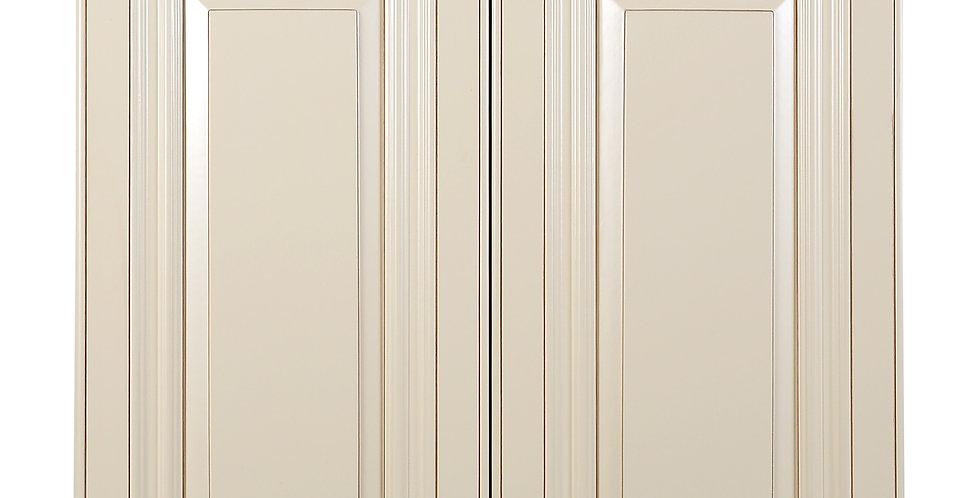 "Cream White Wall Cabinet 12"" Deep 24""H"