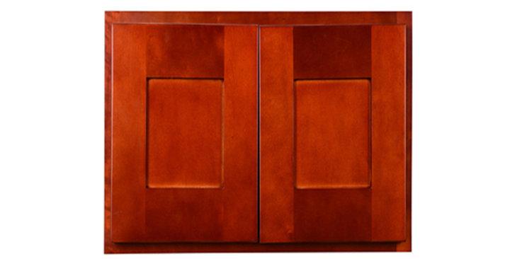 "Cherry Shaker Wall Cabinet 12"" Deep 24""H"