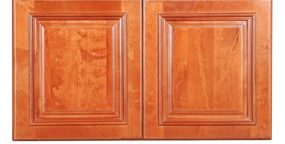 "Wine Maple Wall Cabinet 12"" Deep 18""H"