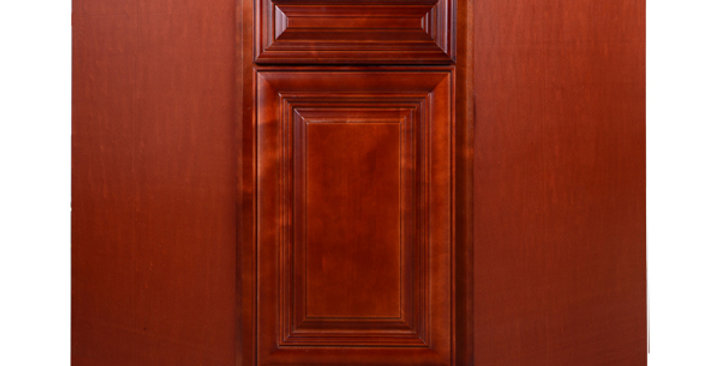 """Cherry Maple Sink Base Angle Cabinet 36"""""""