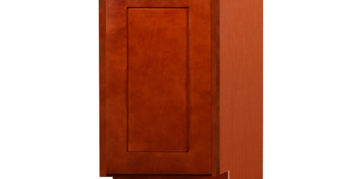 Cherry Shaker Base End Angle Cabinet with One Door