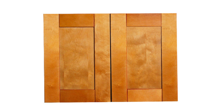 "Honey Spice Wall Cabinet 12"" Deep 21""H"