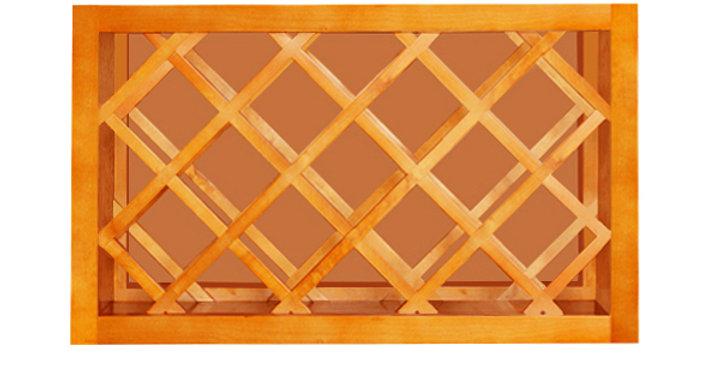 Honey Spice Wall Wine Rack Cabinet