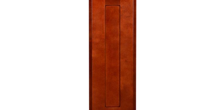 """Cherry Shaker Single Door Wall Cabinet 12"""" Deep 30""""H"""