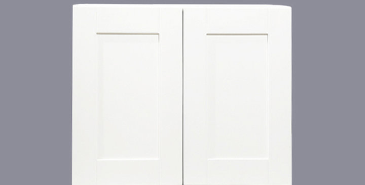 """White Shaker Wall Cabinet 12"""" Deep 24""""H"""