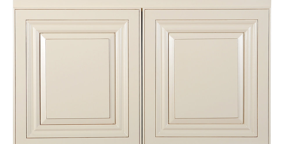 "Cream White Wall Cabinet 12"" Deep 18""H"
