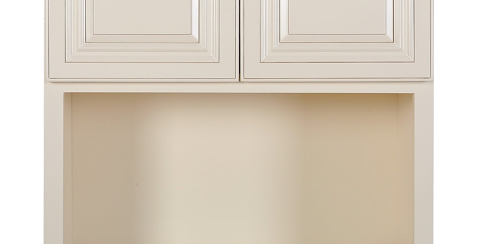 Cream White Wall Microwave Cabinet