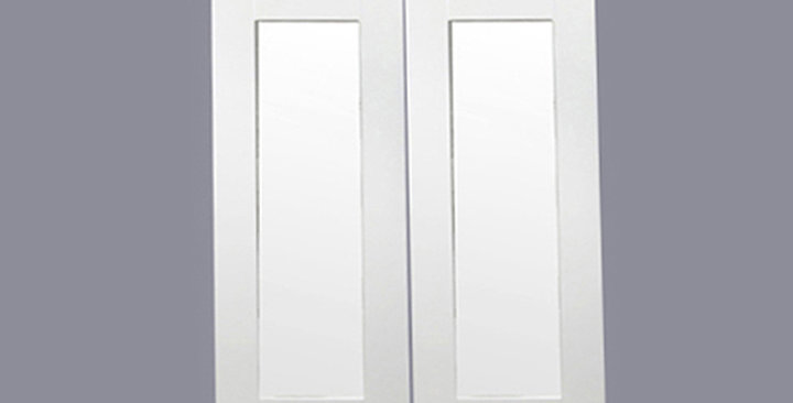 White Shaker Glass Door (Two Doors)