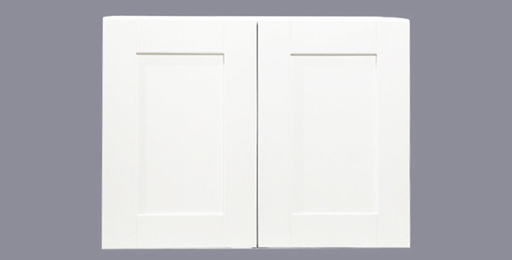 """White Shaker Wall Cabinet 12"""" Deep 21""""H"""