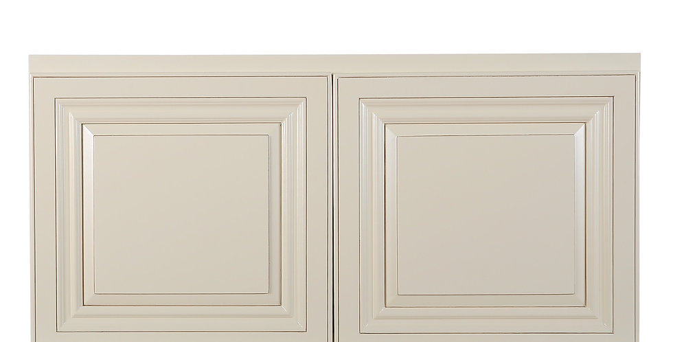 "Cream White Wall Cabinet 24"" Deep 18""H"
