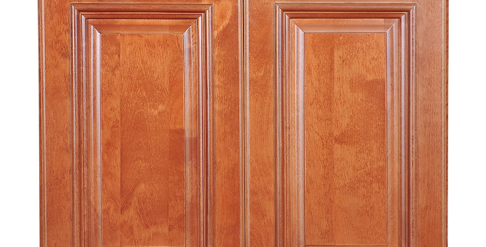 "Wine Maple Wall Cabinet 12"" Deep 21""H"