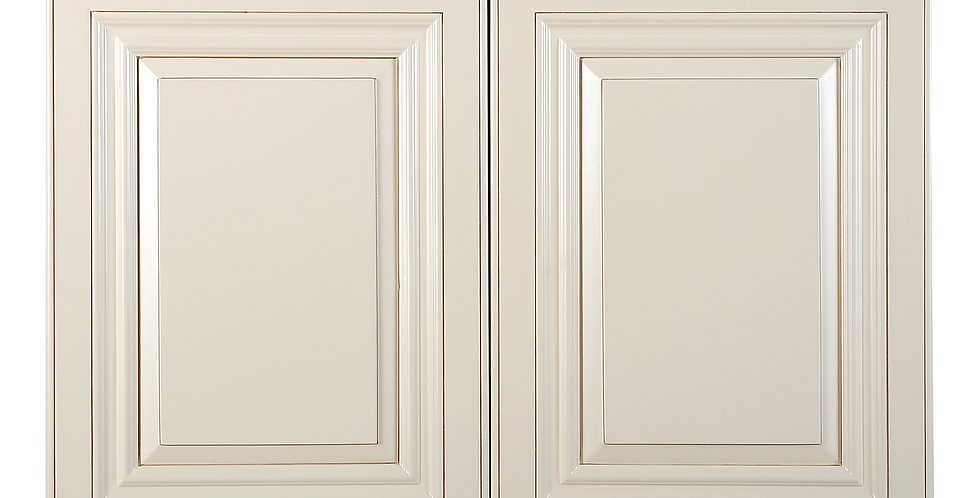 "Cream White Wall Cabinet 24"" Deep 21""H"