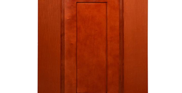 Cherry Shaker Wall Diagonal Cabinet