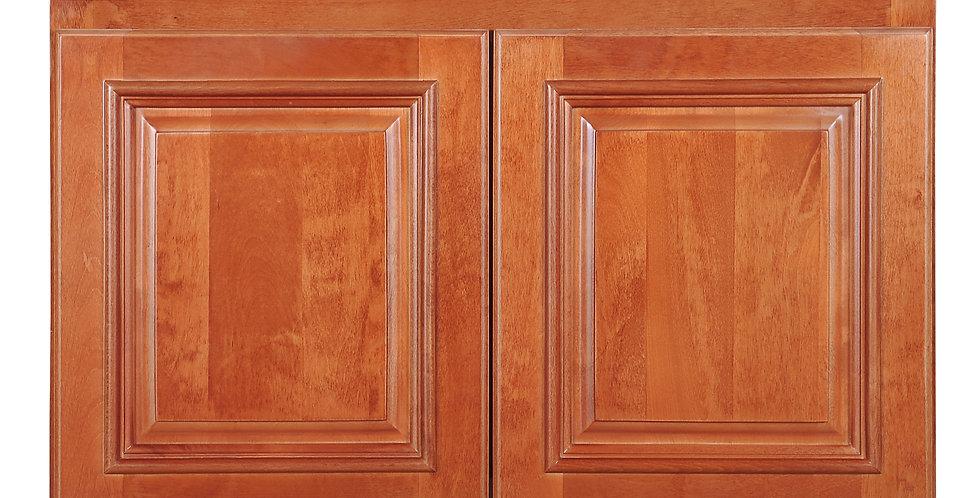 "Wine Maple Wall Cabinet 24"" Deep 18""H"