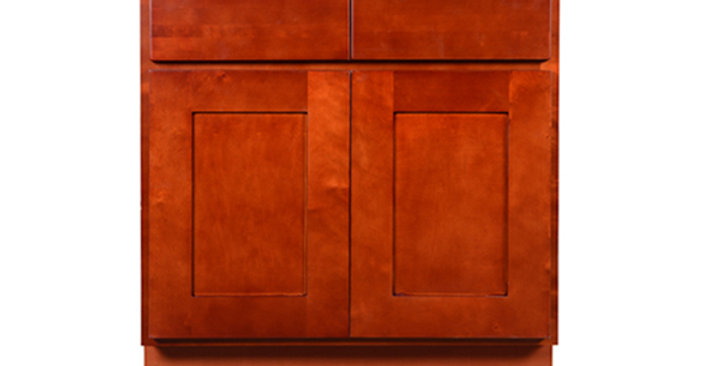 Cherry Shaker Sink Base Cabinet 33-36