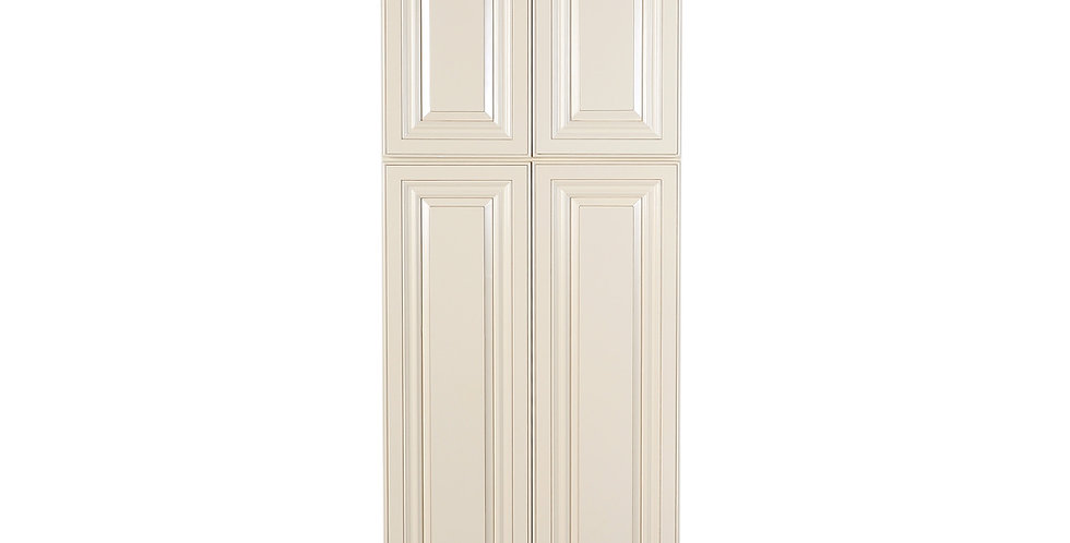Cream White Pantry Cabinet with Four Doors