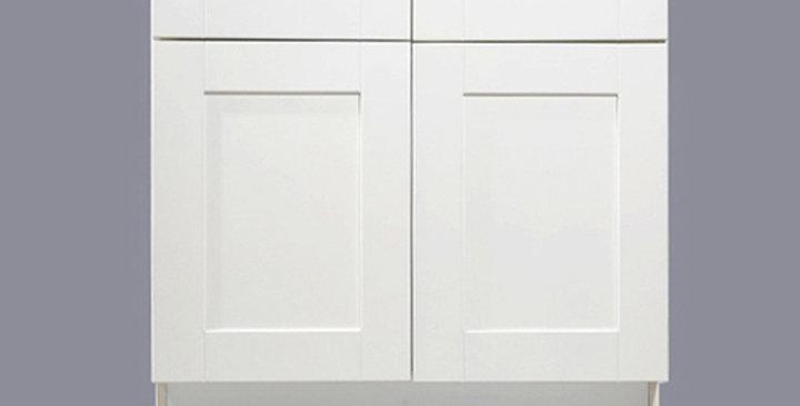 White Shaker Sink Base Cabinet 33-36