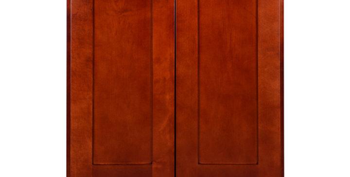 "Cherry Shaker Wall Cabinet 12"" Deep 39""H"