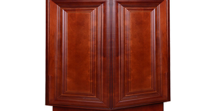 Cherry Maple Base End Angle Cabinet with Two Doors