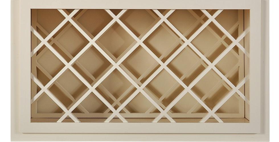 Cream White Wall Wine Rack Cabinet