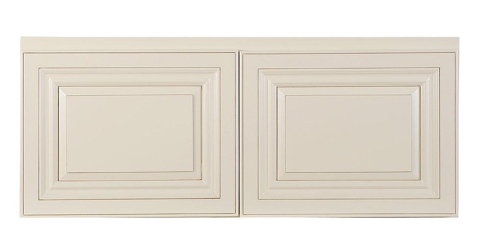 "Cream White Wall Cabinet 24"" Deep 15""H"