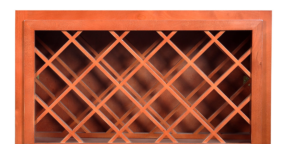 Wine Maple Cream White Wall Wine Rack Cabinet