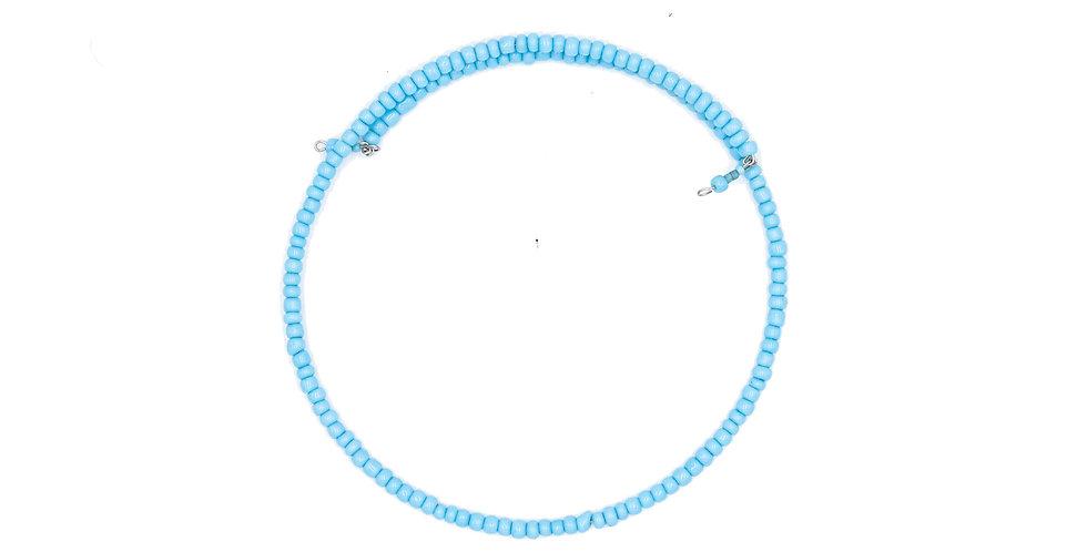 Blue Beaded Gargantilla