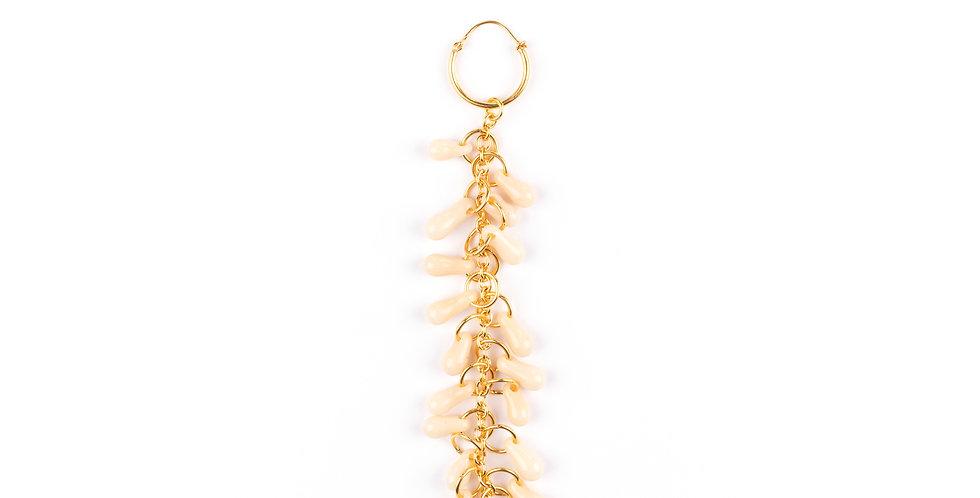 Crystal Ivory Single Earring