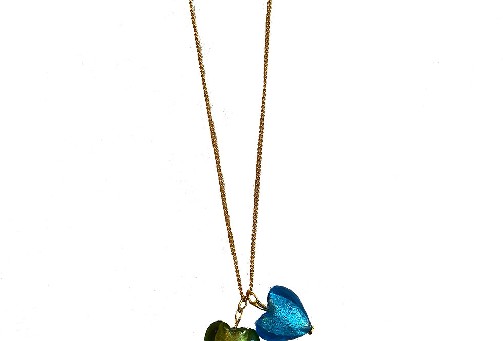 Heart Glass Necklace