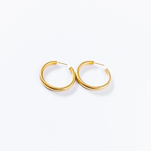 Latin Hoop Earrings