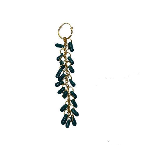 Aquamarine Crystal Single Earring