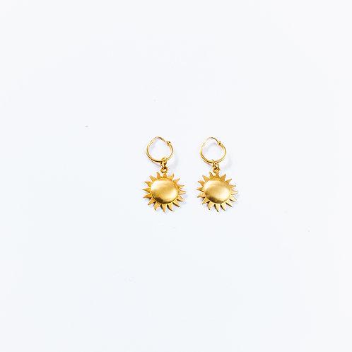 Sun Hoop Earrings