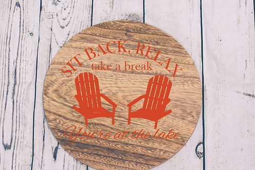 Sitback& relax Lake sign