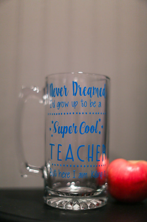 Teacher beer mug