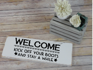 kick off your boots sign
