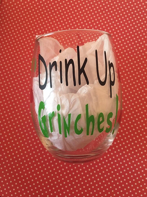 Chistmas wine glass
