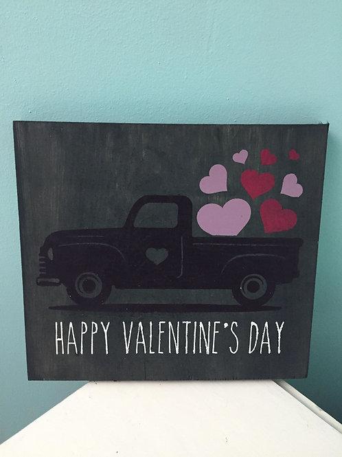 Valentine's day truck