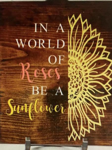 Roses & Sunflower