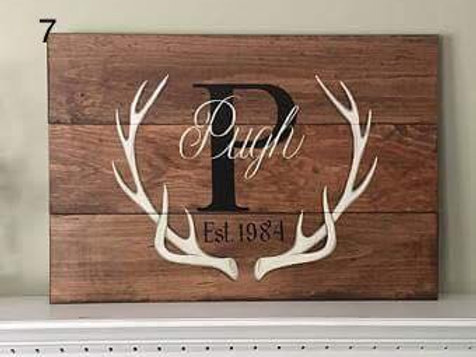 Customized Antlers Sign