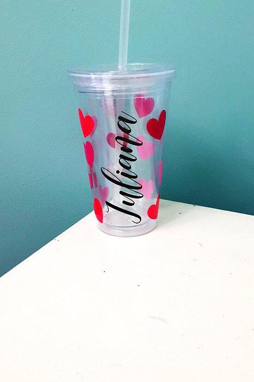 Personalized valentine's tumblers
