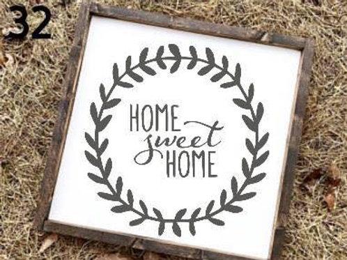 Home Sweet Home wreath sign