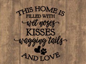 Wet noses & wagging tail sign