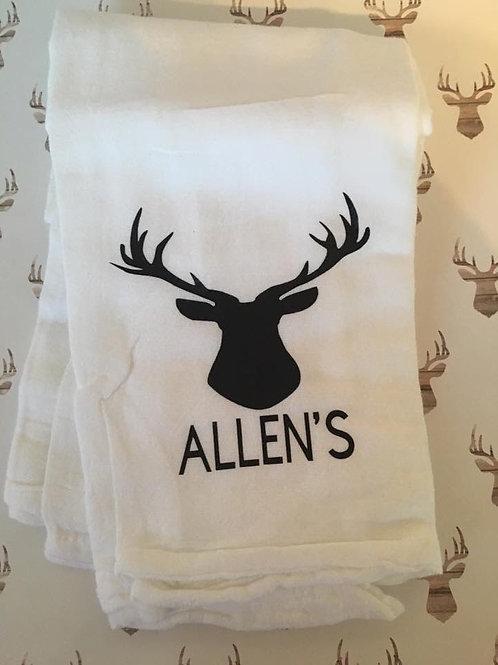 Family deer kitchen towel