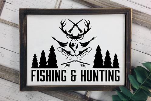 Hunting & Fishing sign