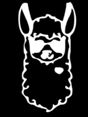 Llama Kids Sign